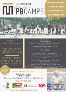 Tyson McGuffin Pickleball Camps