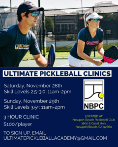 Ultimate Picjkleball Clinics