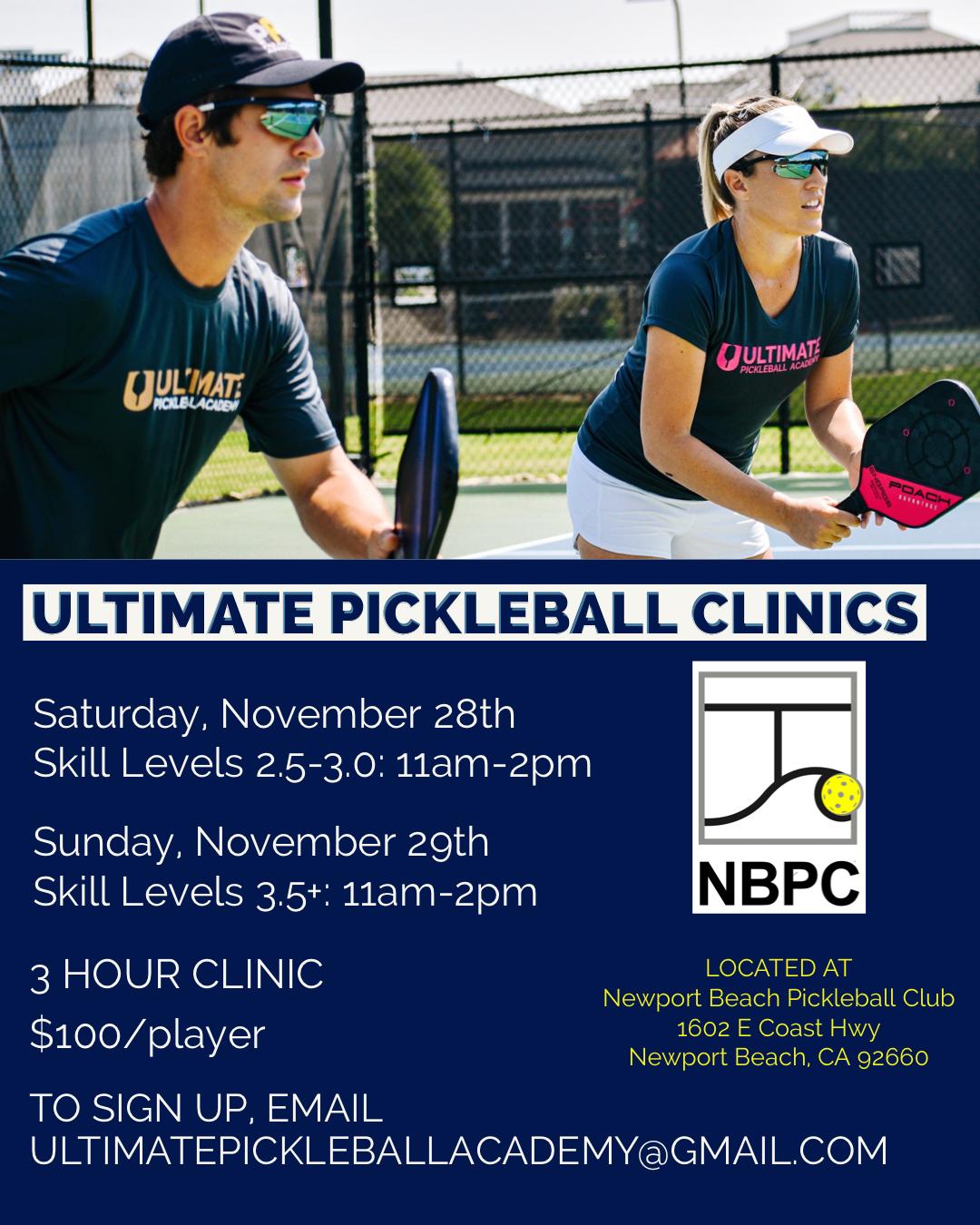 Ultimate Picjkleball Clinics